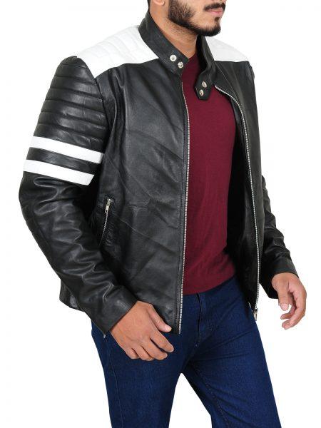 Ian Nerve Dave Franco Biker Leather Jacket side open
