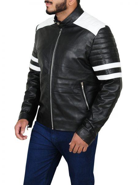 Ian Nerve Dave Franco Biker Leather Jacket side