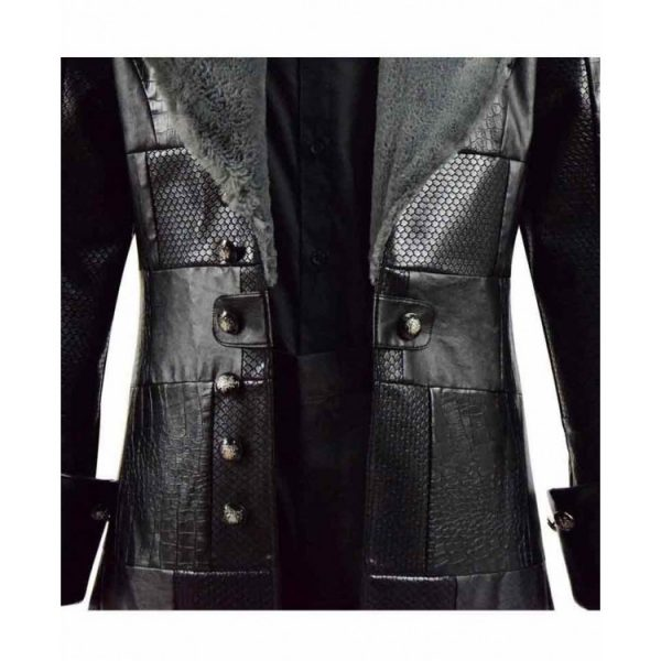 Kingdom Hearts iii Sora Black Fur Leather Coat