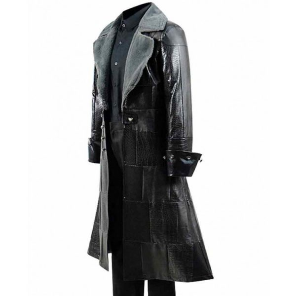 Kingdom Hearts iii Sora Black Fur Leather Coat side