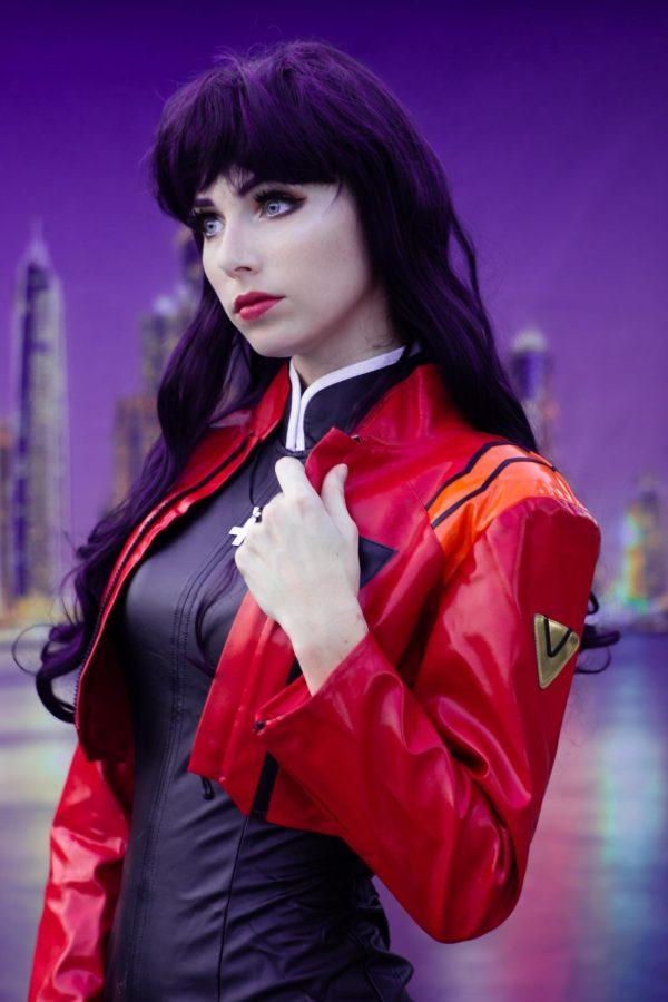 Misato Katsuragi Evangelion leather jacket