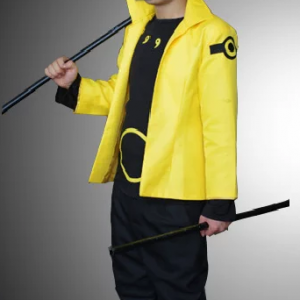 Naruto Uzumaki Six Paths Sage Cosplay Jacket front