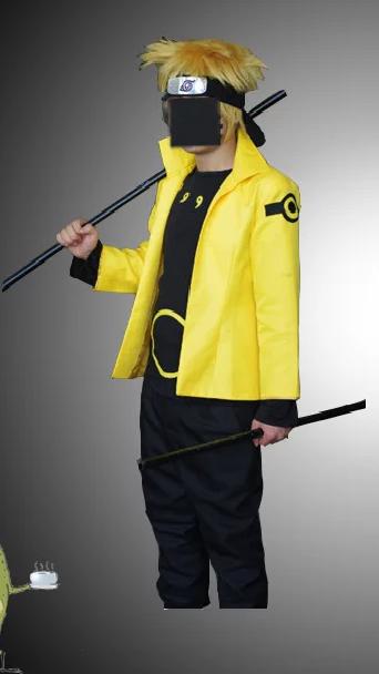 Naruto Uzumaki Six Paths Sage Cosplay Jacket front
