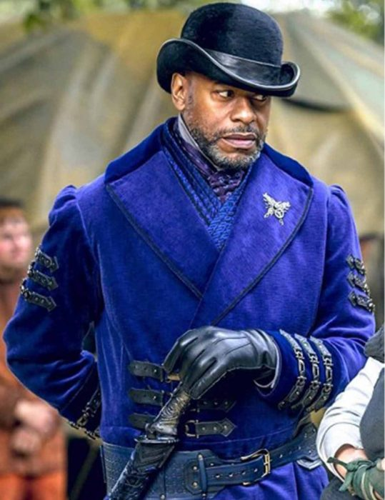 Nathaniel Moon Into The Badlands Sherman Augustus Blue Wool Coat front