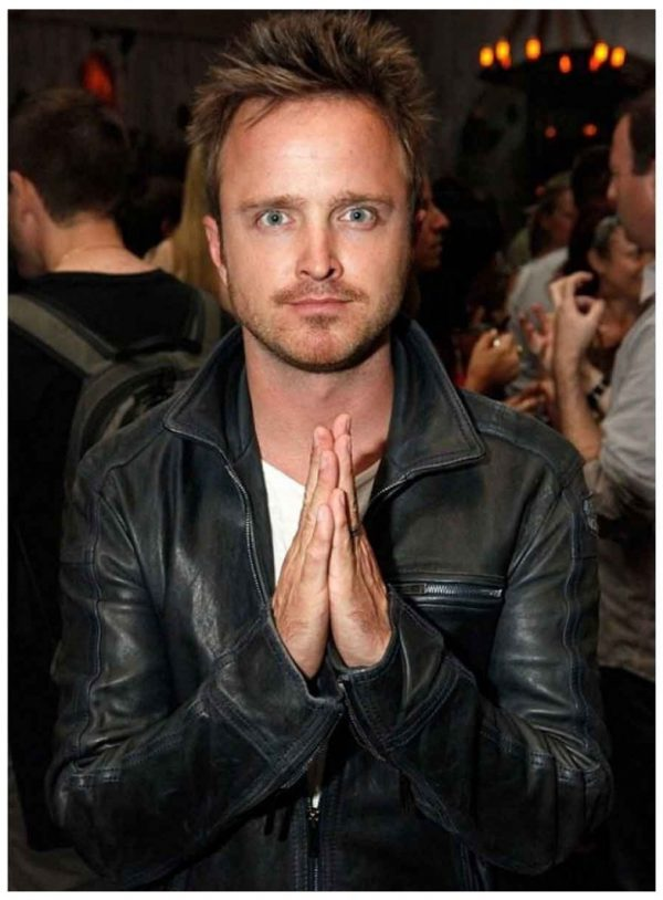 Need For Speed Aaron Paul Black Leather Jacket