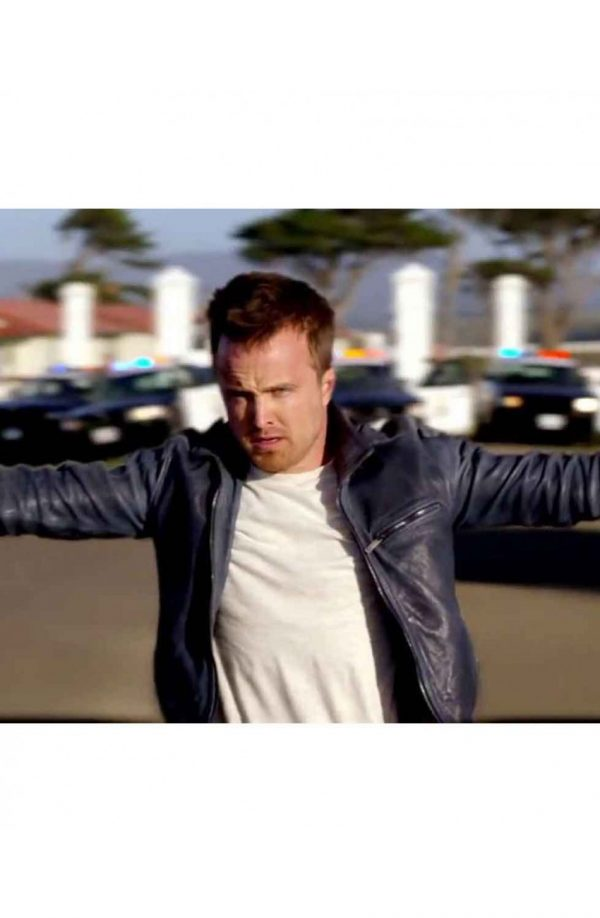 Need For Speed Aaron Paul Black Leather Jacket back