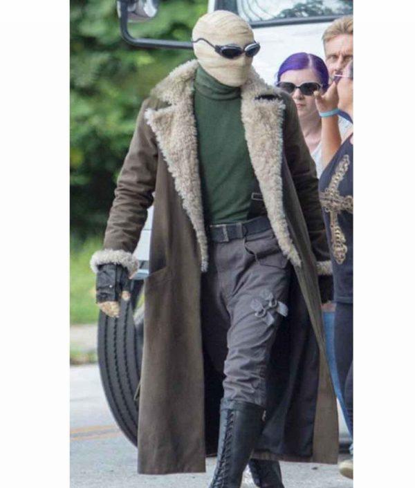 Negative Man Matt Bomer Doom Patrol Fur collar Trench Coat front