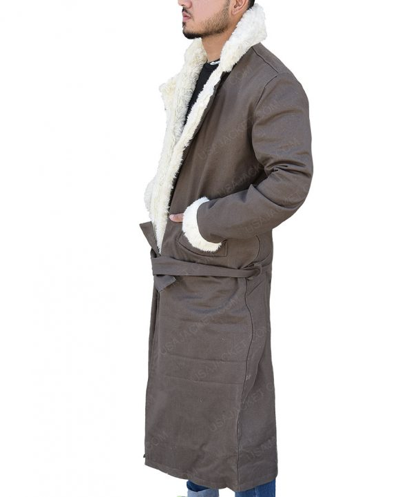 Negative Man Matt Bomer Doom Patrol Fur collar Trench Coat side