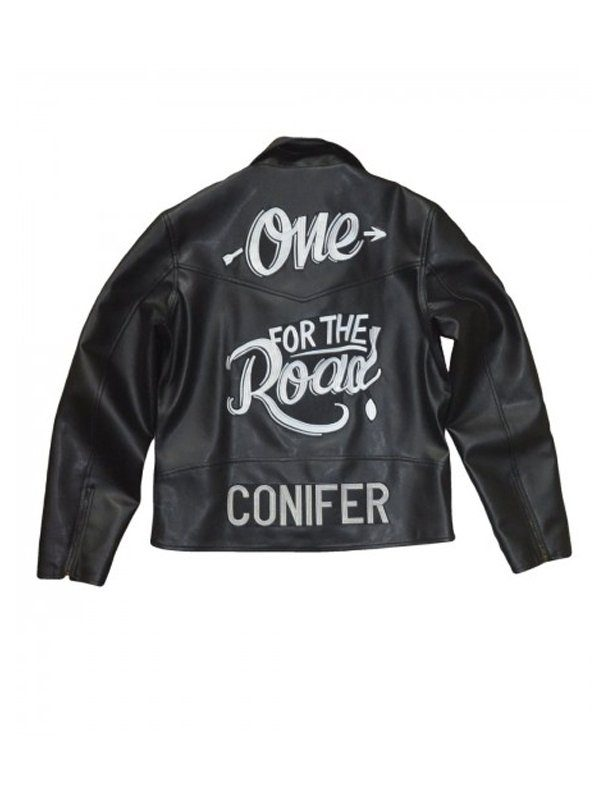 One For The Road Conifer Alex Turner Black Leather Jacket back