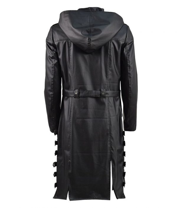 PlayerUnknown's Battlegrounds PUBG Black Hoodie Coat back