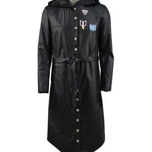 PlayerUnknown's Battlegrounds PUBG Black Hoodie Coat front