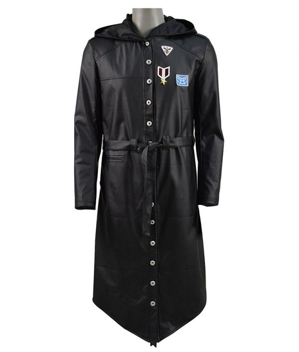 PlayerUnknown's Battlegrounds PUBG Black Hoodie Coat front