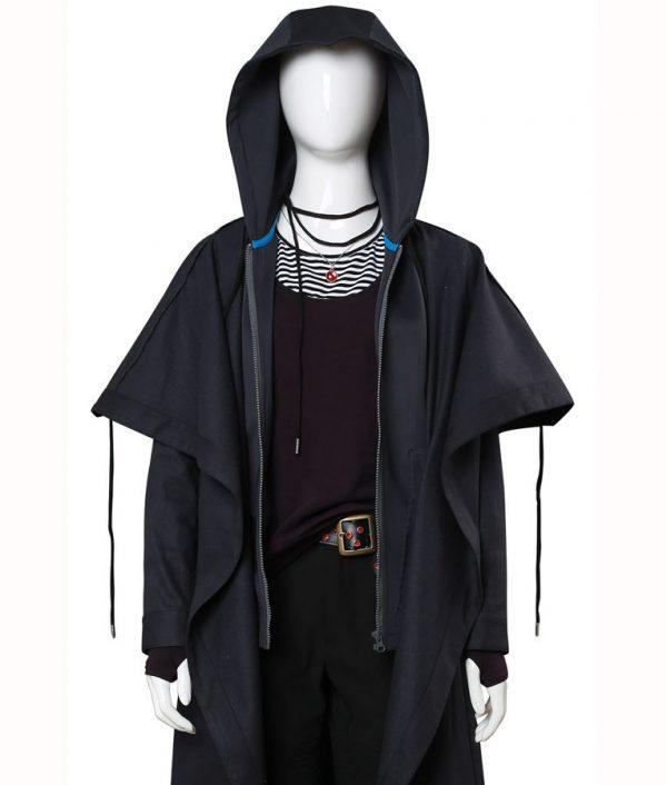 Raven Teen Titans Rachel Roth Black Coat front