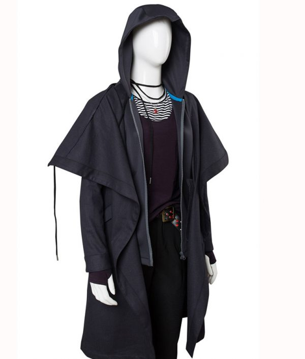 Raven Teen Titans Rachel Roth Black Coat side