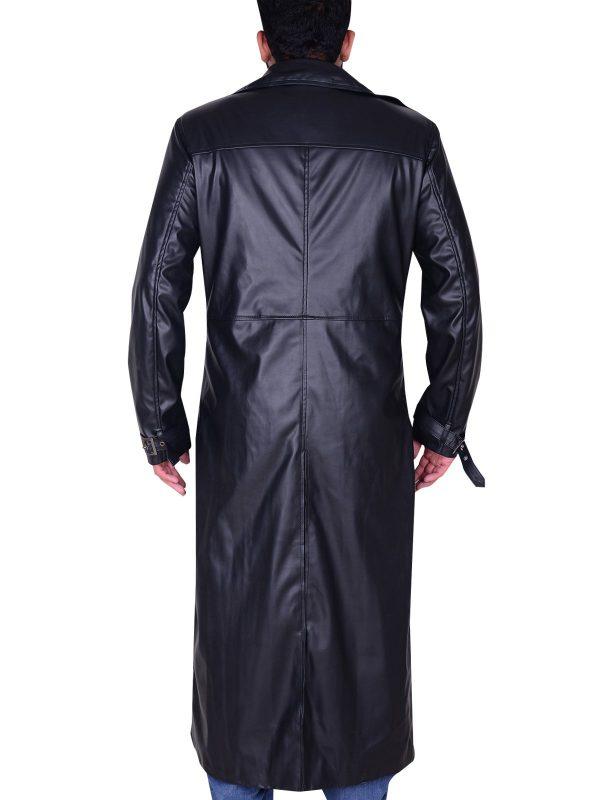 Resident Evil 5 Albert Wesker Black Trench Coat back