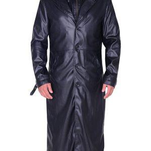 Resident Evil 5 Albert Wesker Black Trench Coat front