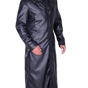 Resident Evil 5 Albert Wesker Black Trench Coat side