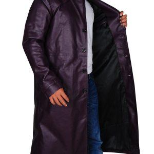Resident Evil 5 Albert Wesker Long Costume Purple Coat
