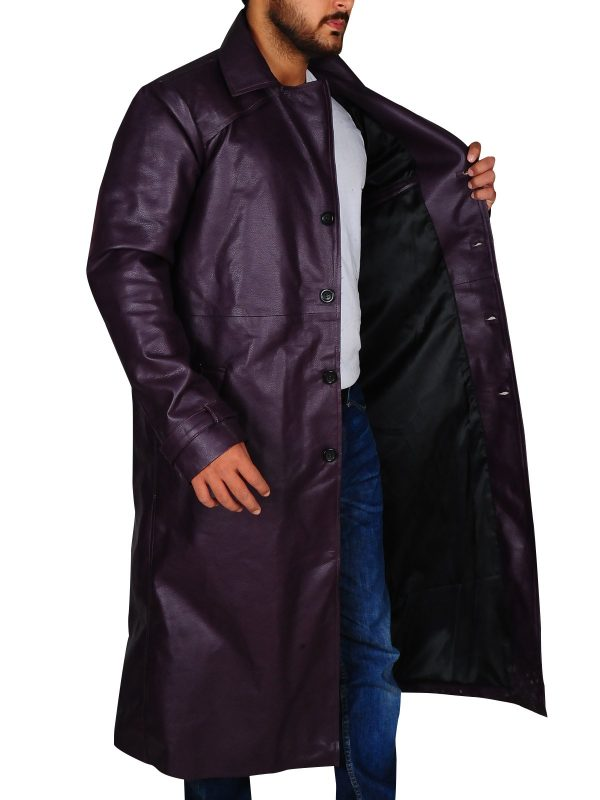 Resident Evil 5 Albert Wesker Long Costume Purple Coat
