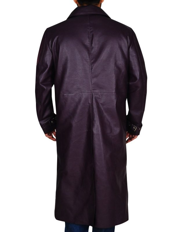 Resident Evil 5 Albert Wesker Long Costume Purple Coat back
