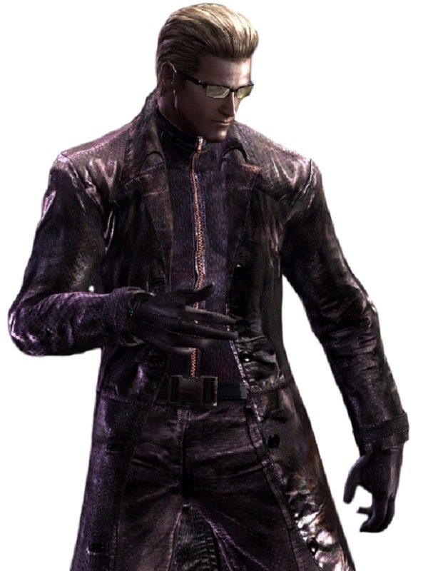 Resident Evil 5 Albert Wesker Long Costume Purple Coat cosplay