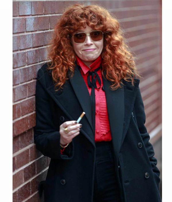 Russian Doll Natasha Lyonne Black Coat Front