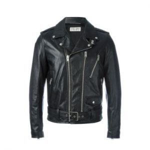 Saint Laurent Black Rock Leather Jacket