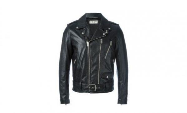 Saint Laurent Black Rock Leather Jacket