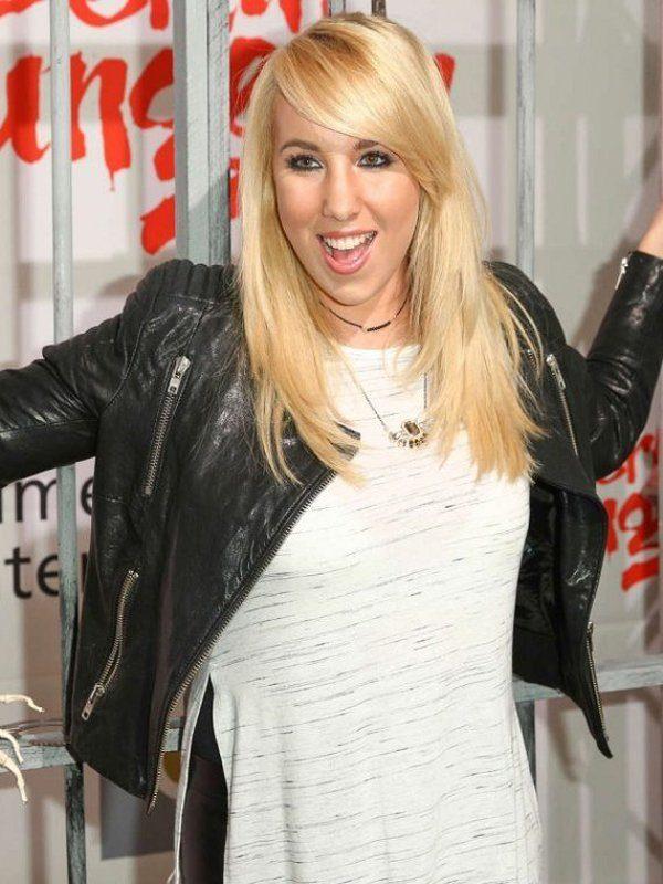 Singer Anne Marie Padded Design Black Leather Jacket side