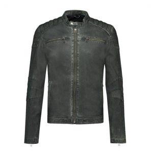 Slim Goosecraft Biker Style Leather Jacket