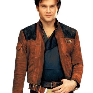 Solo A Star Wars Story Brown Suede Leather Jacket 1
