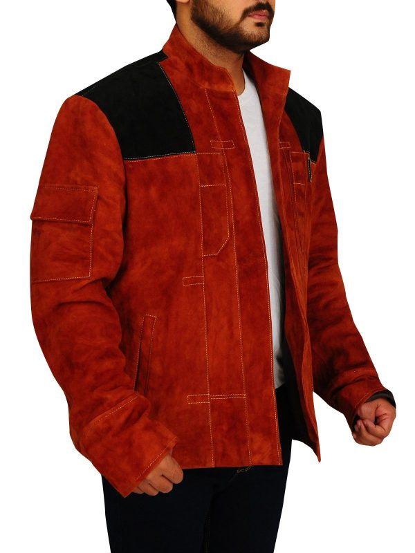 Solo A Star Wars Story Brown Suede Leather Jacket