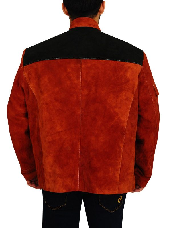 Solo A Star Wars Story Brown Suede Leather Jacket back