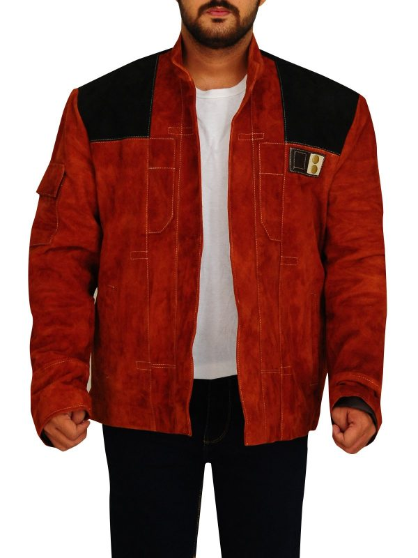 Solo A Star Wars Story Brown Suede Leather Jacket front