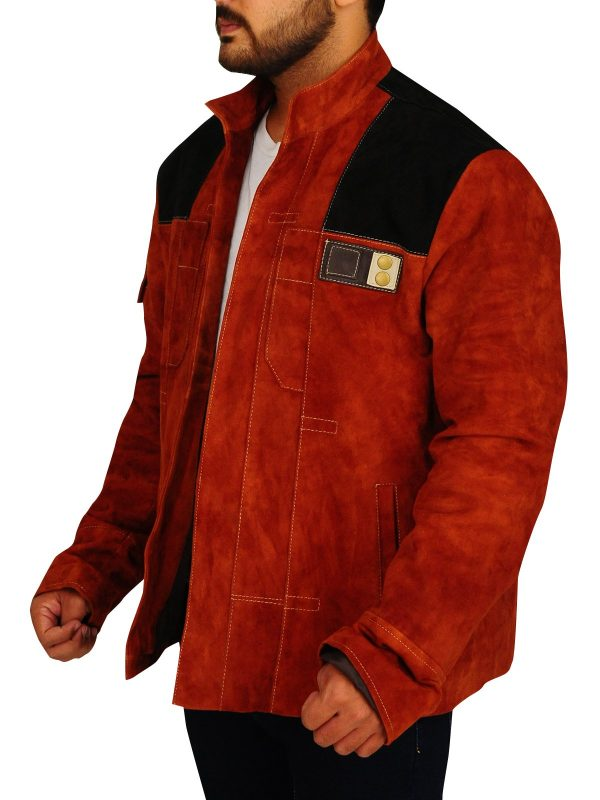 Solo A Star Wars Story Brown Suede Leather Jacket side