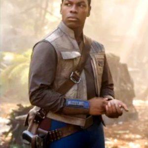 Star Wars Rise of the Skywalker Finn Leather Vest front