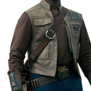 Star Wars Rise of the Skywalker Finn Leather Vest side