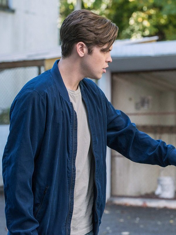 Supernatural Alexander Calvert Blue Jacket side
