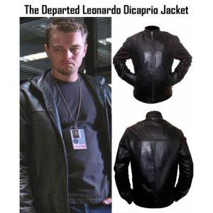 The Departed Billy (Leonardo DiCaprio) Black Leather Jacket
