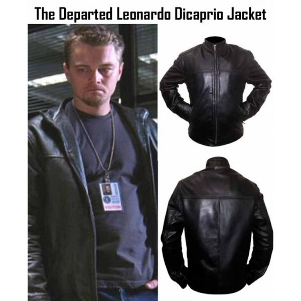The Departed Billy (Leonardo DiCaprio) Black Leather Jacket