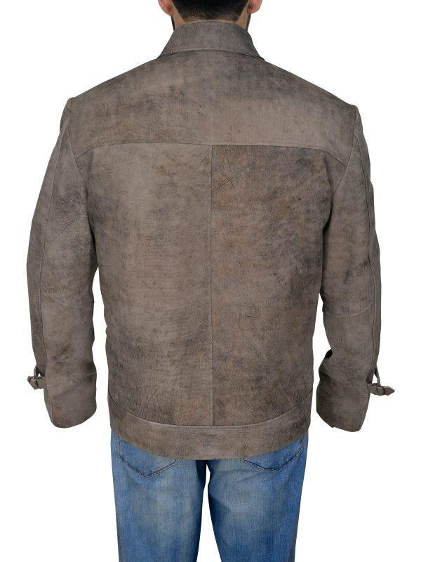 The Expendables 2 Jason Statham DisTressed Jacket back