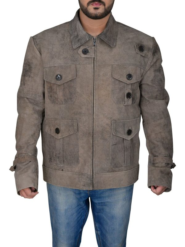The Expendables 2 Jason Statham DisTressed Jacket front