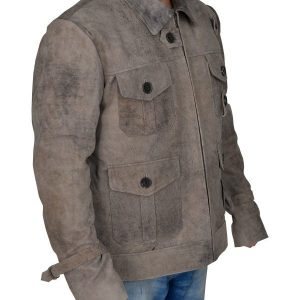 The Expendables 2 Jason Statham DisTressed Jacket side