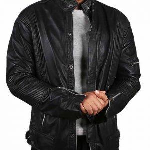 The Jasperz Daft Punk Electroma Black Leather Jacket front