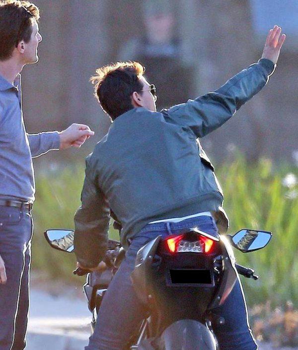 Tom Cruise Top Gun 2 Maverick Bomber Jacket back