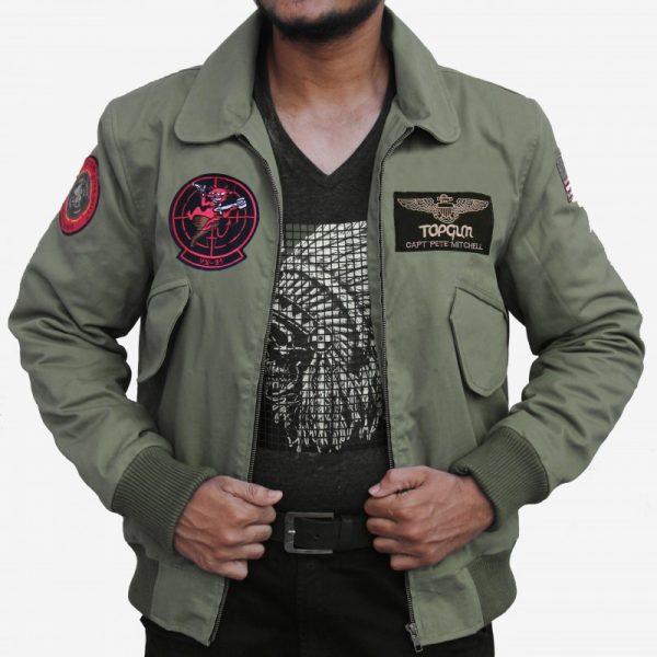 Tom Cruise Top Gun 2 Maverick Bomber Jacket front