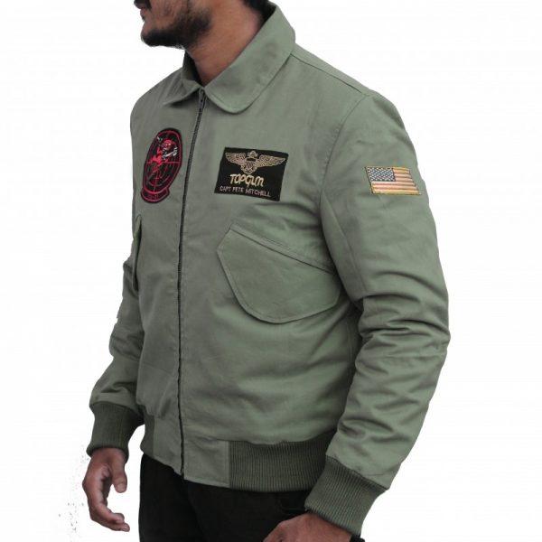 Tom Cruise Top Gun 2 Maverick Bomber Jacket side