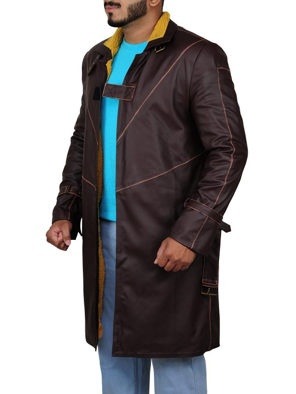 Watch Dogs Aiden Pearce Brown Leather Coat