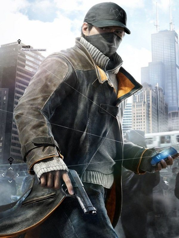 Watch Dogs Aiden Pearce Brown Leather Coat1