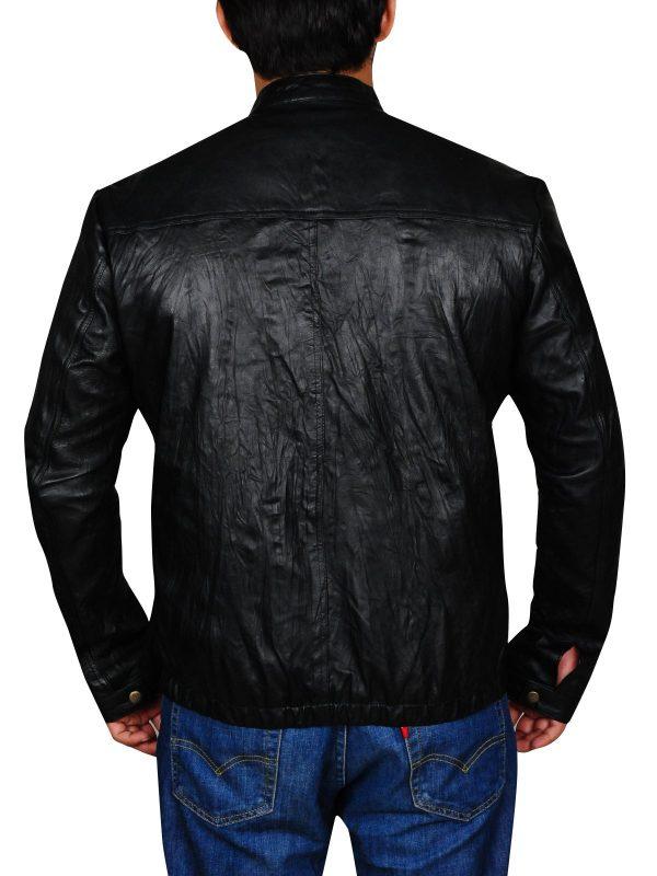 Zac Efron 17 Again Black Leather Jacket back